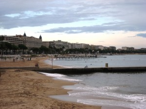 Cannes beach front