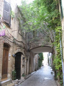 Antibes- a street leading to my house