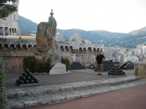 "Bob with the artillery on ""The Rock"" in Monaco"
