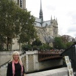 Me in front of the Seine and Notre Dame